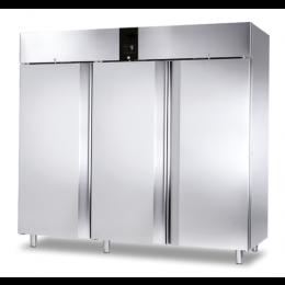 Armadio congelatore refrigerato in acciaio inox 3 ante cieche 2300 lt ventilato -10 -22°C