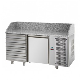 Banco Pizzeria 1 porta, 6 cassetti 1610x800x1030h mm