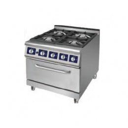 Cucina a gas 4 fuochi su forno a gas LUX