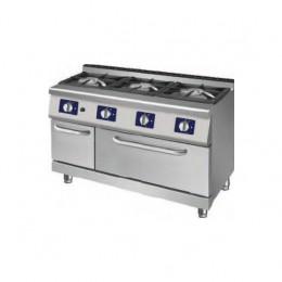Cucina a gas a 3 fuochi con forno a gas statico LUX