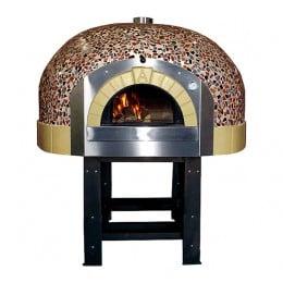 Forno a Legna 10 Pizze con decorazione a Mosaico