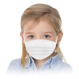 Mascherina chirurgica pediatrica per bimbi, bambini a 3 strati monouso antismog, batteri e polveri sottili