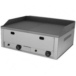 Piastra Fry top acciaio inox professionale gas piano Liscio/Rigato