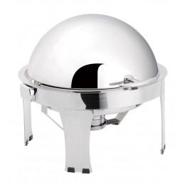 Chafing dish con coperchio rotondo GN 1/1  ribaltabile 90/180° 6 lt  600x600x395 h mm