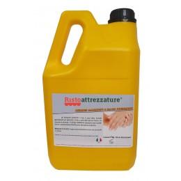 Tanica ricarica di Gel professionale 5 lt igienizzante disinfettante e sanitizzante mani per uso quotidiano, battericida  senza risciacquo
