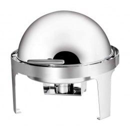 Chafing dish forma rotonda con coperchio ribaltabile 180° 5 lt 500x500x295 h mm