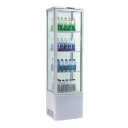 Vetrina Pasticceria espositiva 4 lati refrigerazione ventilata su 4 ripiani +0 +12°C 515x485x1900h mm