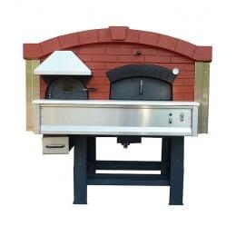 Forno a Legna Rotante con camera di combustione separata 9 Pizze