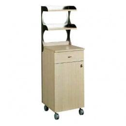Mobile sala alto singolo con sportello in Rovere Bianco 450x480x1550h mm