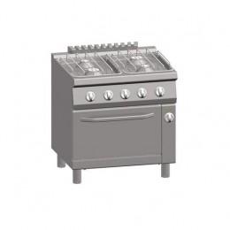 Cucina a Gas 4 fuochi + Forno a Gas 1/1 GN