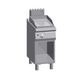 Piastra Fry top acciaio inox professionale gas Rigato Acciaio Dolce + Vano