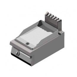 Piastra Fry top acciaio inox professionale elettrico Rigato Acciaio Dolce Top