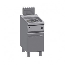 Friggitrice a Gas professionale singola in acciaio inox 1/2 modulo 12 lt