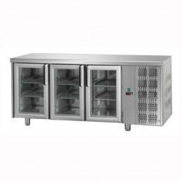 Tavolo Refrigerato GN 1/1 con 3 porte in vetro