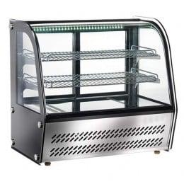 Vetrina refrigerata da banco 4 lati vetro illuminazione led dimensioni 883x580x670h mm capacità 160 lt