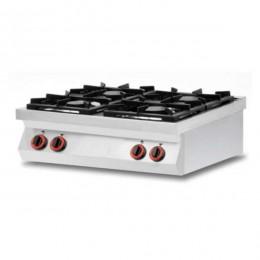 Cucina a Gas 4 fuochi da banco in acciaio inox AISI 304
