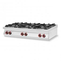 Cucina a Gas 6 fuochi da banco in acciaio inox AISI 304
