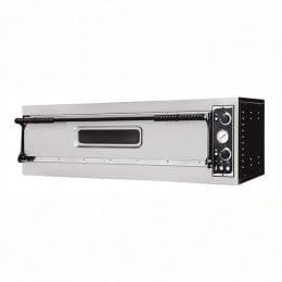Forno elettrico pizzeria per pizza meccanico 1 camera interna da 1080x410x140h mm - 3 pizze - PORTA IN VETRO