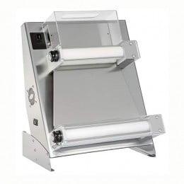 Stendipizza con pedale elettrico di serie in acciaio da banco per pizze dal diametro 26-45 cm