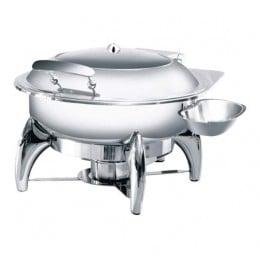 Chafing dish a induzione tondo con finestra e chiusura assistita 5 lt 440x490x300 h mm