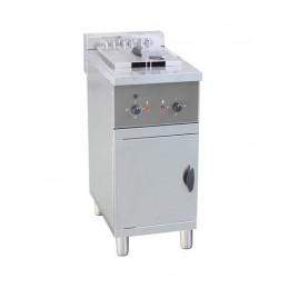 Friggitrice elettrica su mobile singola vasca professionale capacità Olio 25 Lt 18 kw