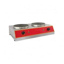 Piastra di cottura elettrica piano cottura Ø 220 + 220 mm