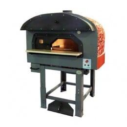 Forno a Legna Rotante con camera di combustione separata con decorazioni a Mosaico 5 Pizze