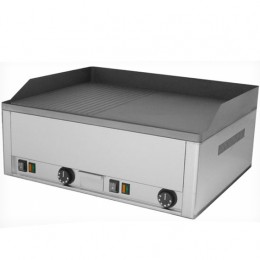 Piastra Fry top acciaio inox professionale elettrico Liscio/Rigato