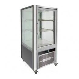 Vetrina pasticceria in acciaio inox 4 lati refrigerazione ventilata su 2 ripiani