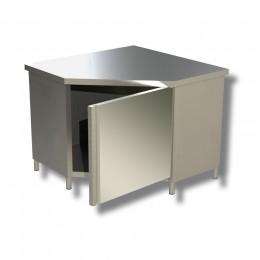 Tavolo armadiato ad angolo con porta a battente 100x60x85h cm