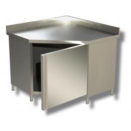 Tavolo armadiato ad angolo con alzatina 100x60x85h cm